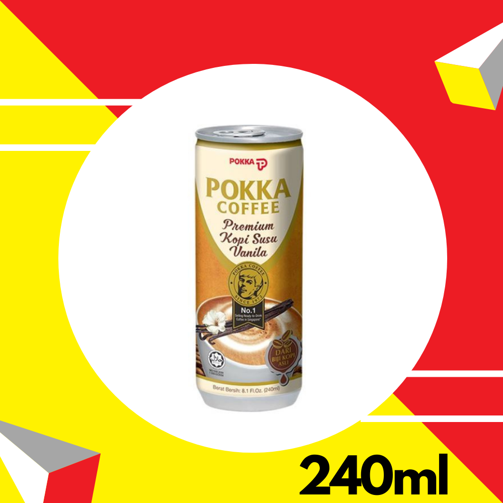 Pokka Premium Vanilla Milk Coffee 240ml