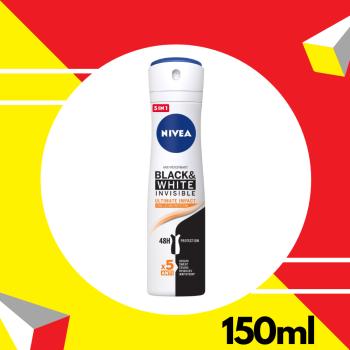 Nivea Deodorant Female Black & White Ultimate Impact Spray 150ml