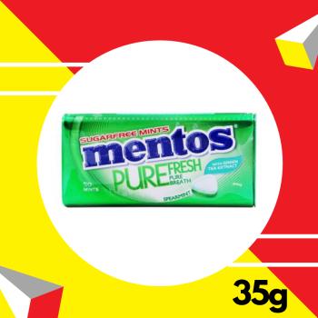 Mentos Pure Fresh Spearmint Tin 35gm