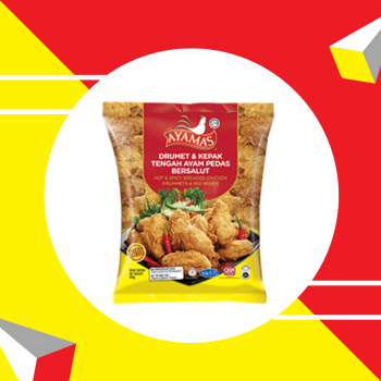 Ayamas Hot & Spicy Drummets & Mid Wings 850g