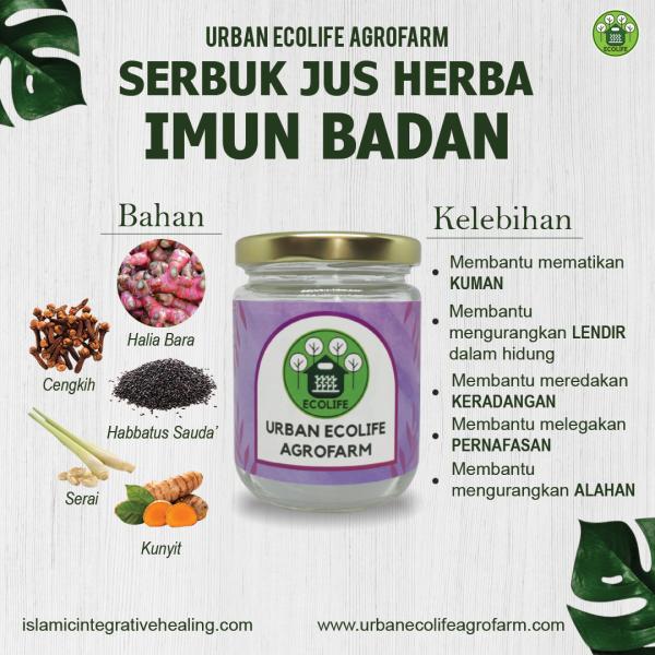 Serbuk Jus Herba Imun Badan - Urban Ecolife Agrofarm