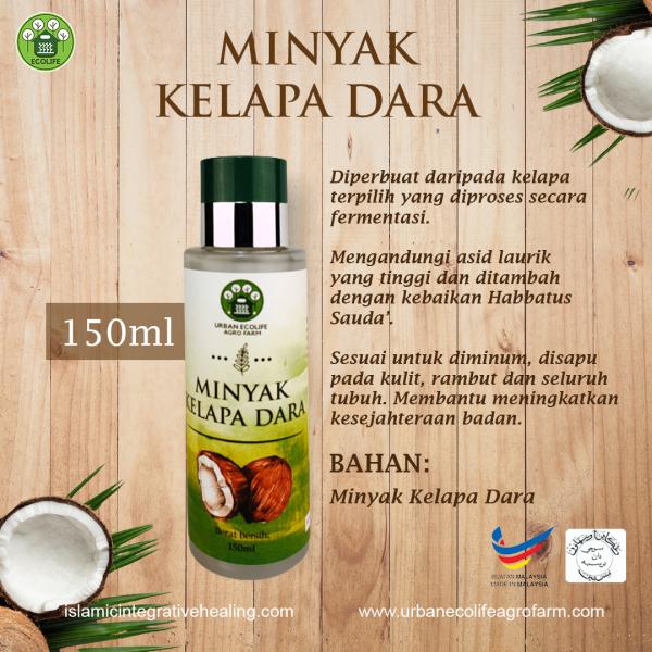 Minyak Kelapa Dara Asli 150ml - Urban Ecolife Agrofarm