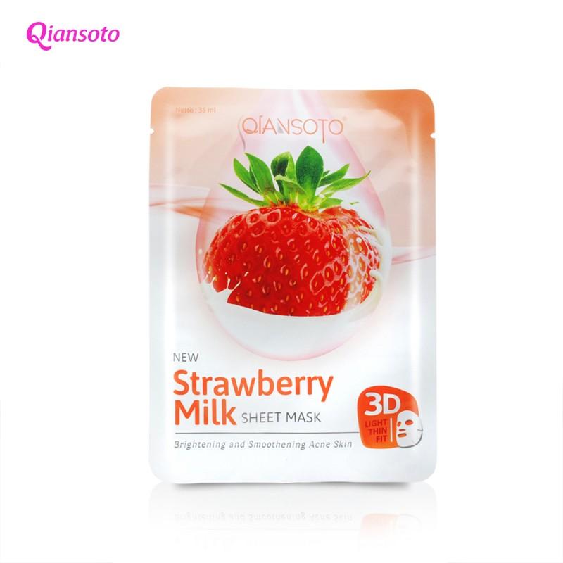 Qiansoto Strawberry Milk Sheet Mask