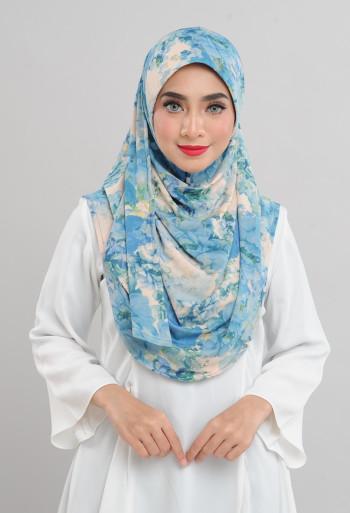 Afiyah - Garden Peony Blue - Anggun Chitra