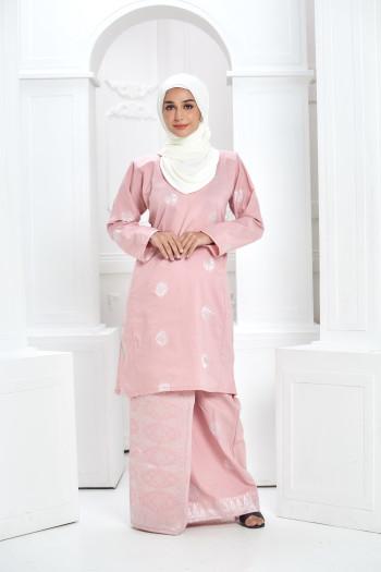 Kurung Songket - Pink