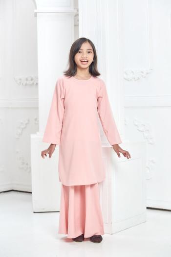 Modern Kurung  - Soft Pink