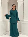 Ruffle Modern Kurung  - Green - Anggun Chitra