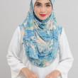 Afiyah - Garden Sky Blue & Cream - Anggun Chitra