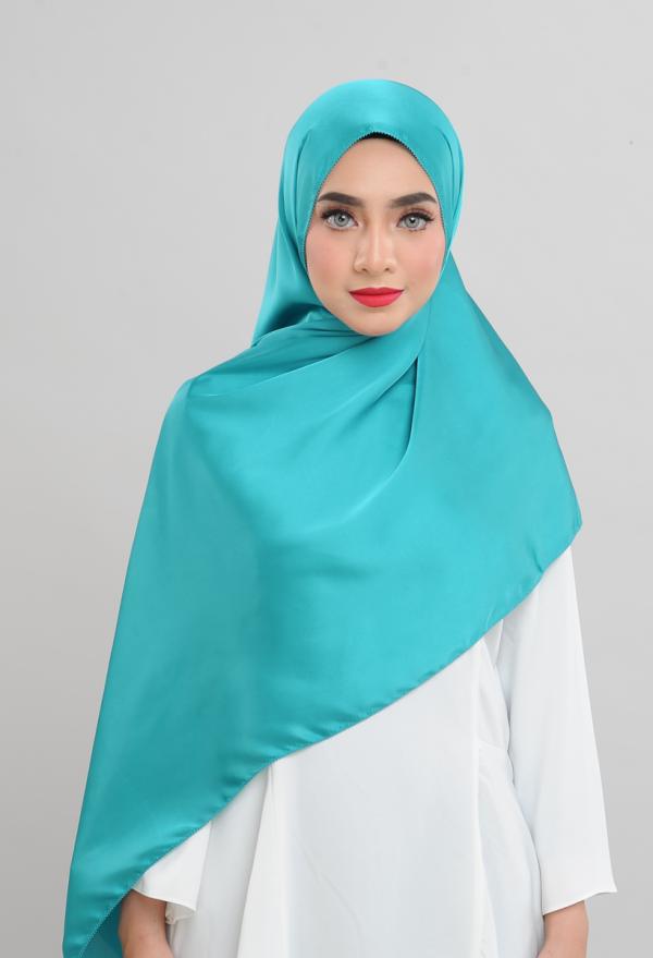 Satin Silk - Turquoise - Anggun Chitra