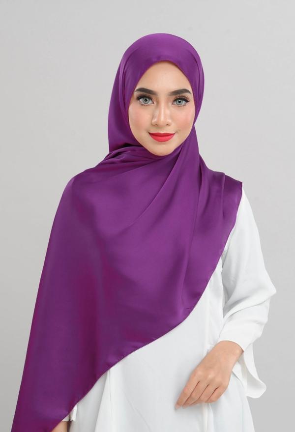 Satin Silk - Violet Purple - Anggun Chitra