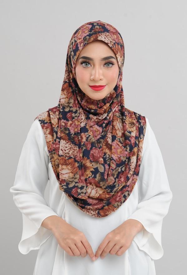 Afiyah - Garden Rose Brown Blue  - Anggun Chitra