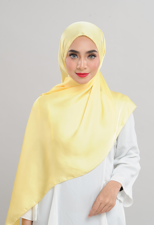 Satin Silk - Yellow Buttercup - Anggun Chitra