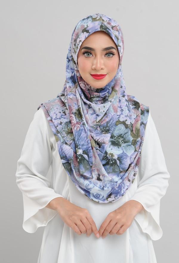 Afiyah - Garden Rose Blue - Anggun Chitra