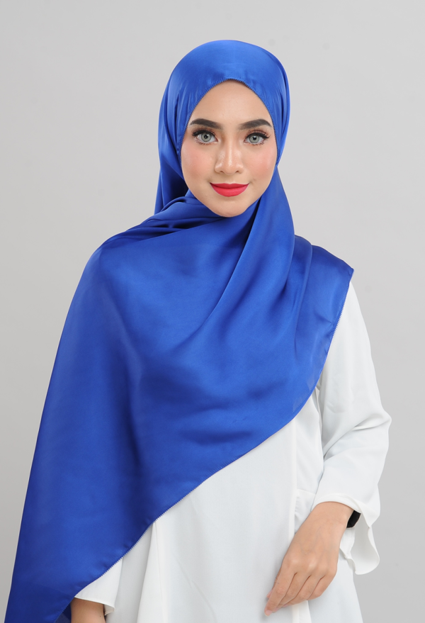 Satin Silk - Electric Blue - Anggun Chitra