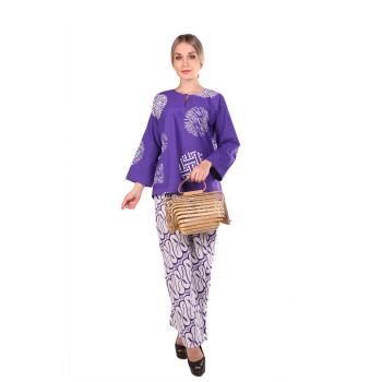 Kurung Kedah Full batik Mak Cun (Purple)