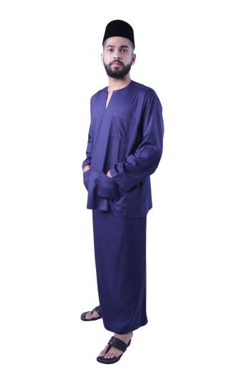 Baju Melayu Nusantara Khalif (Dark Blue)