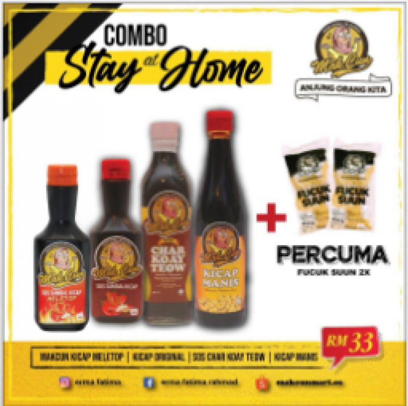 COMBO STAY AT HOME BY MAK CUN [FREE GIFT]