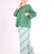 Kurung Kedah Full Batik Mak Cun (Hijau PolkaDot) - Mak Cun Mart
