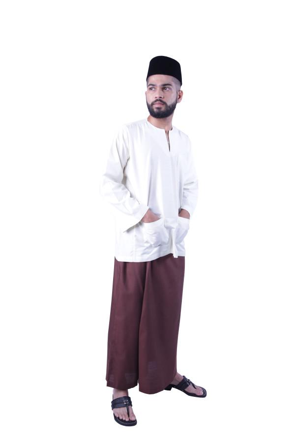 Baju Melayu Nusantara Khalif (OFF White) - Mak Cun Mart