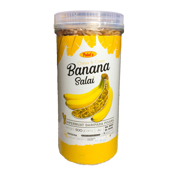 Chewy & Crispy Banana Salai (500g) - Mak Cun Mart