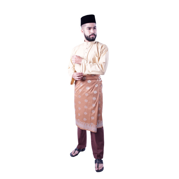 Baju Melayu Teluk Belanga Khalif (Light Brown) - Mak Cun Mart