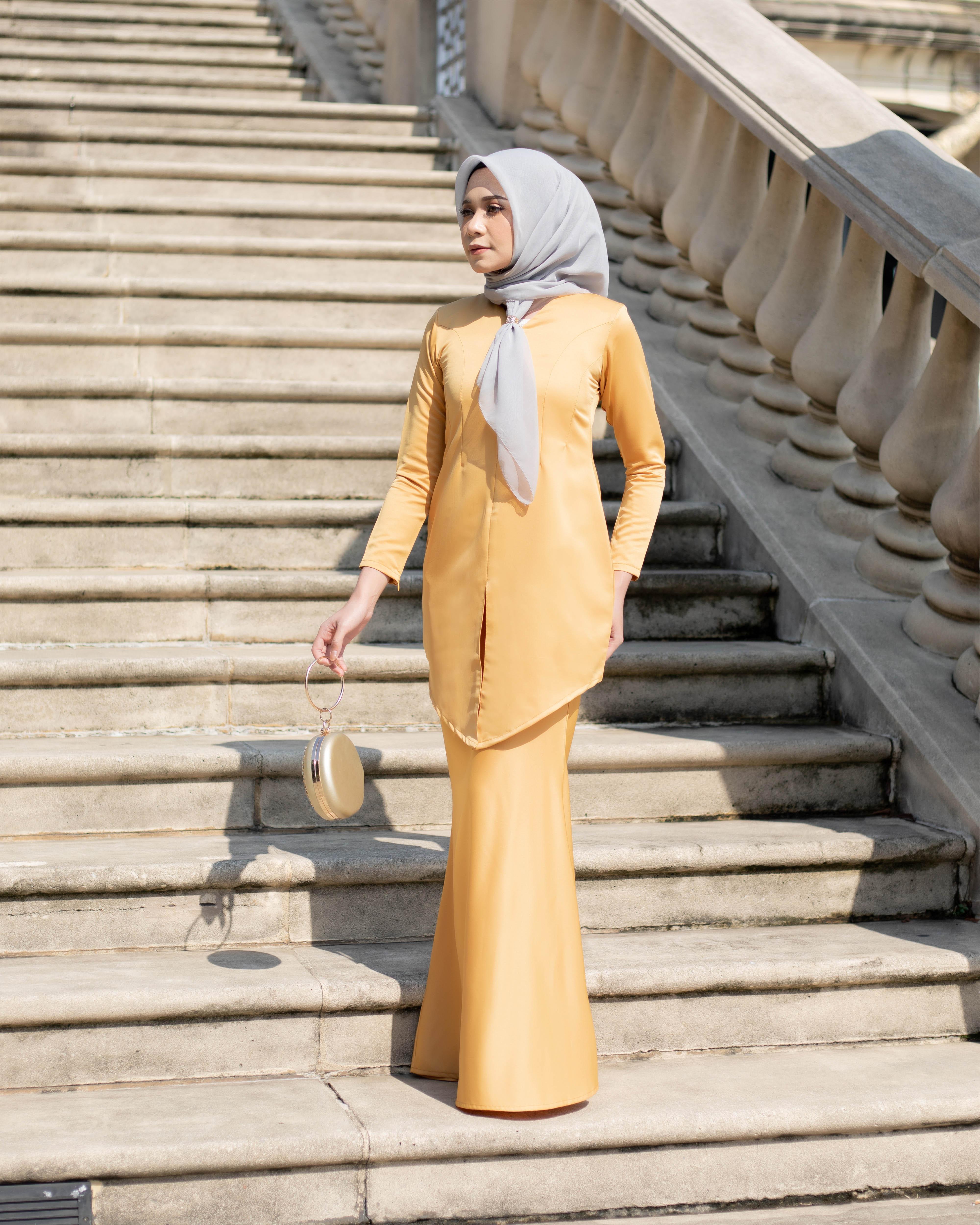 Fateema Kebaya - Yellow Mustard