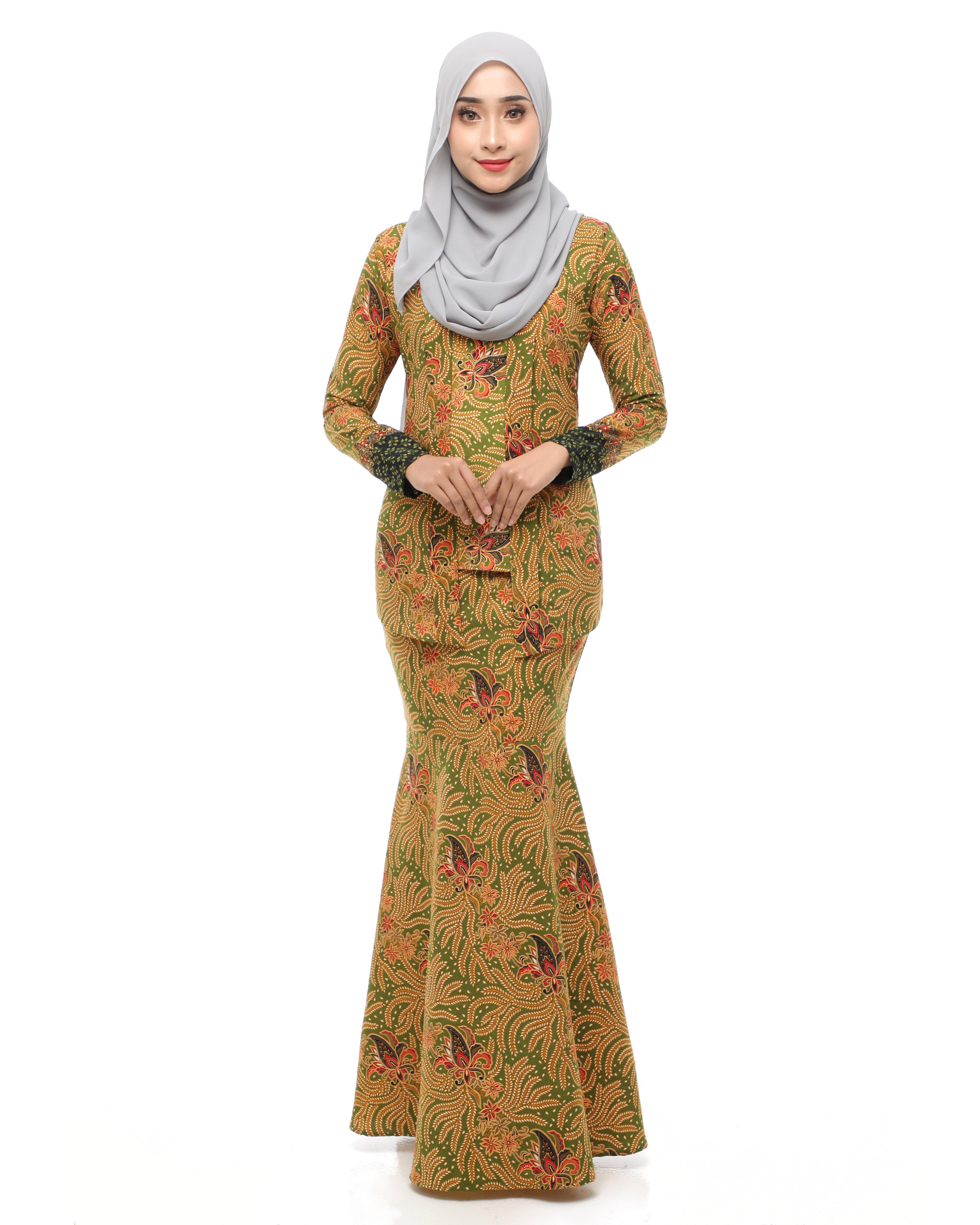 Dewi Batik - Husk Green