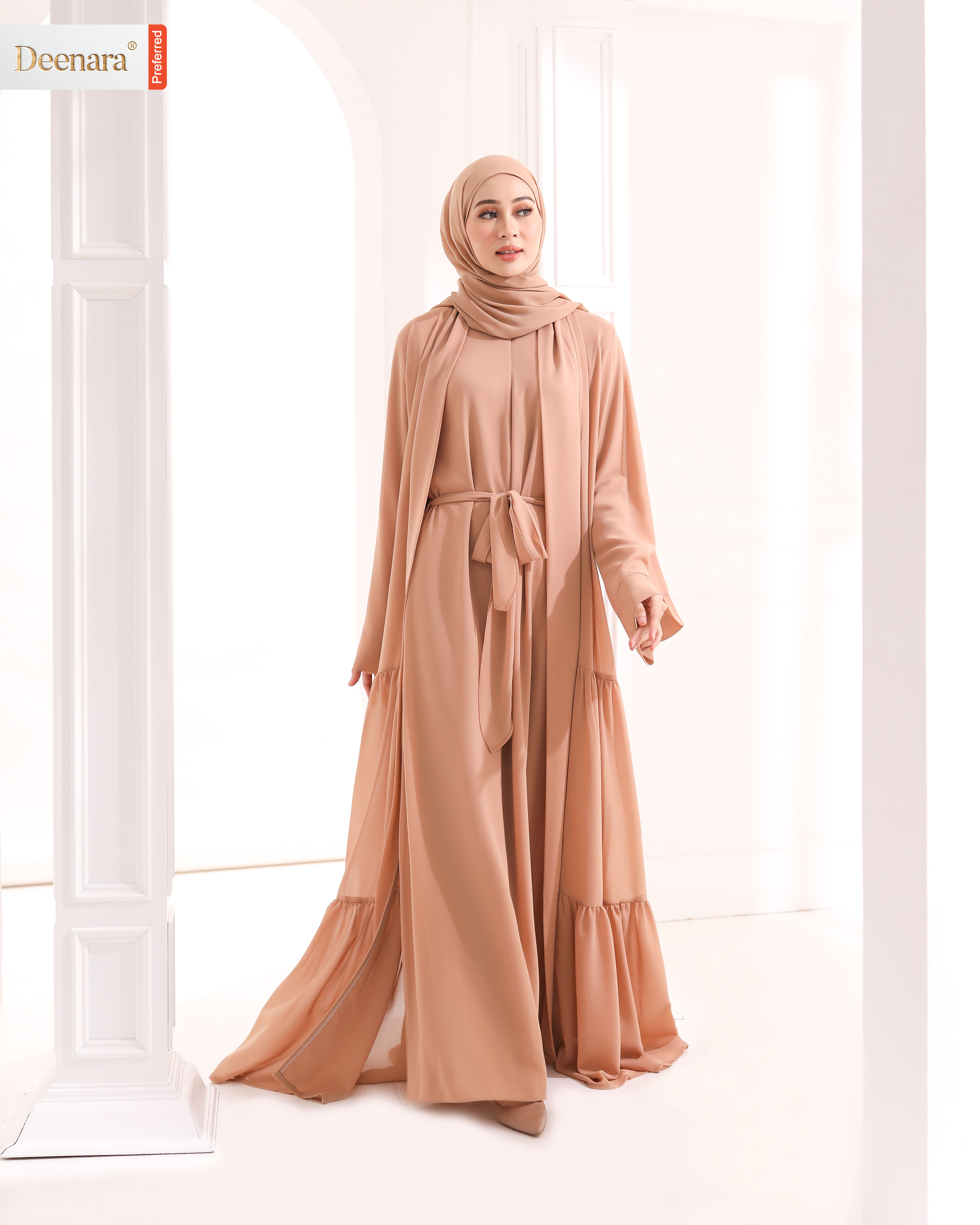 Ameera Abaya - Oak Brown