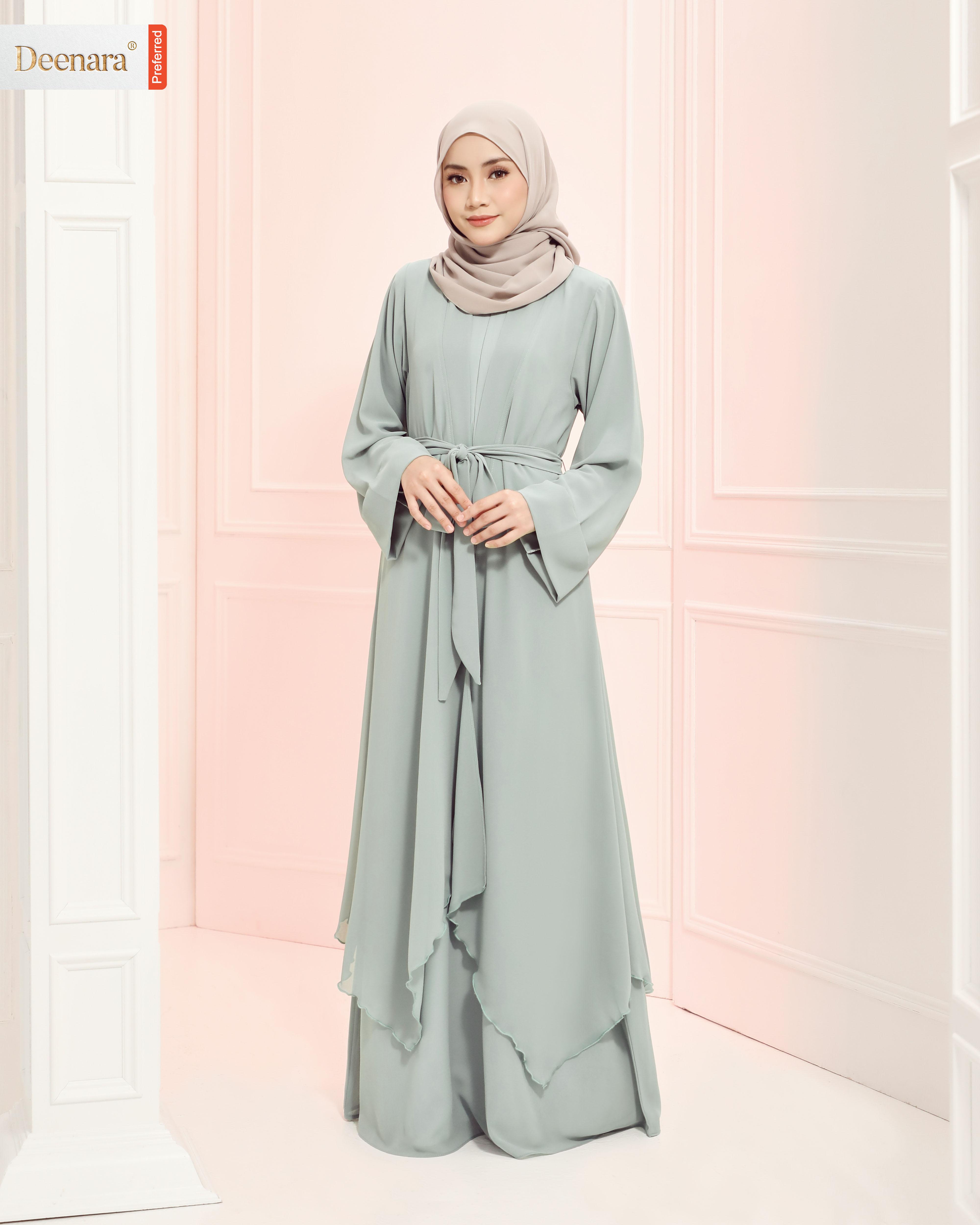 Aafiya Abaya Dress - Spring Mint