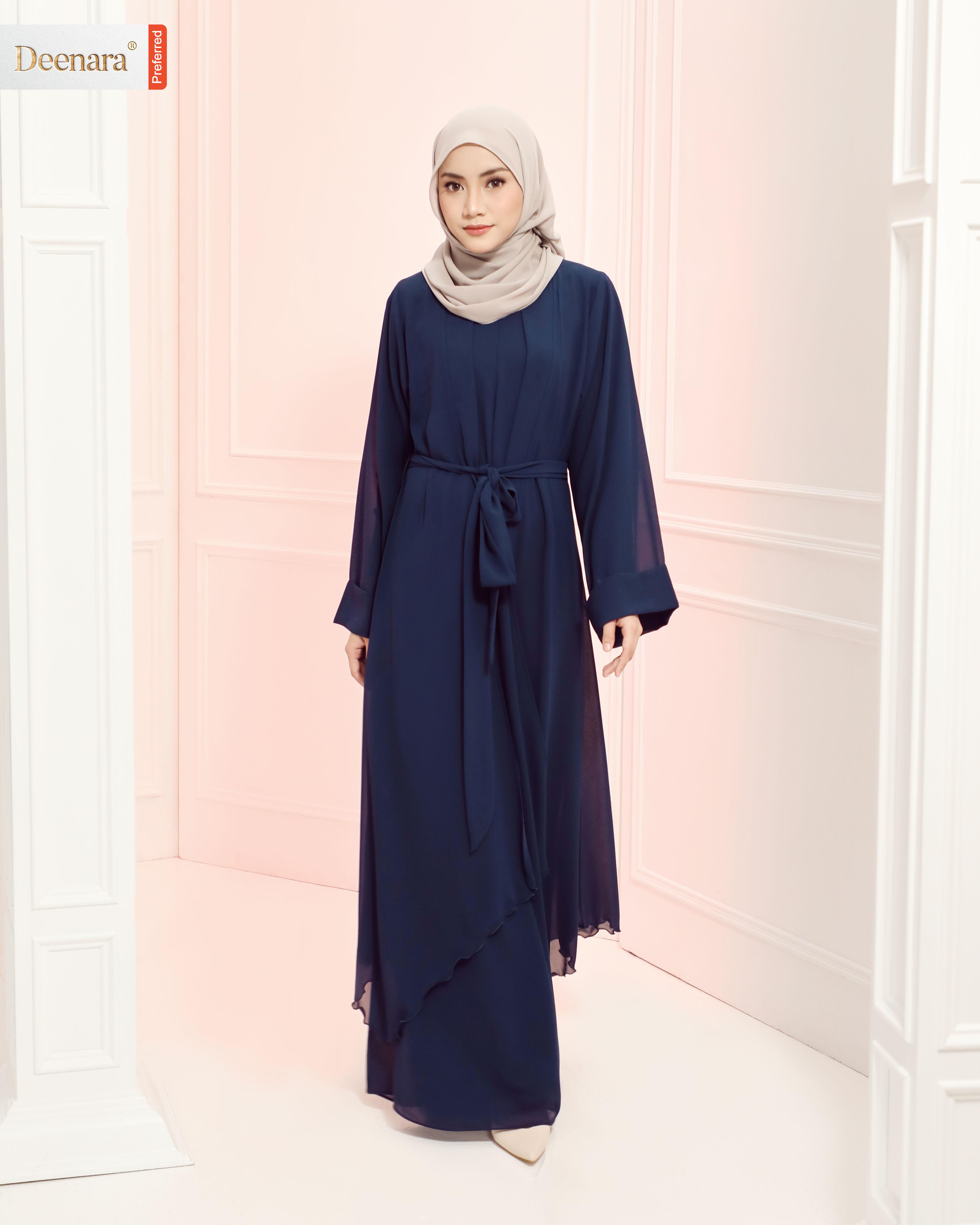 Aafiya Abaya Dress - Navy Blue