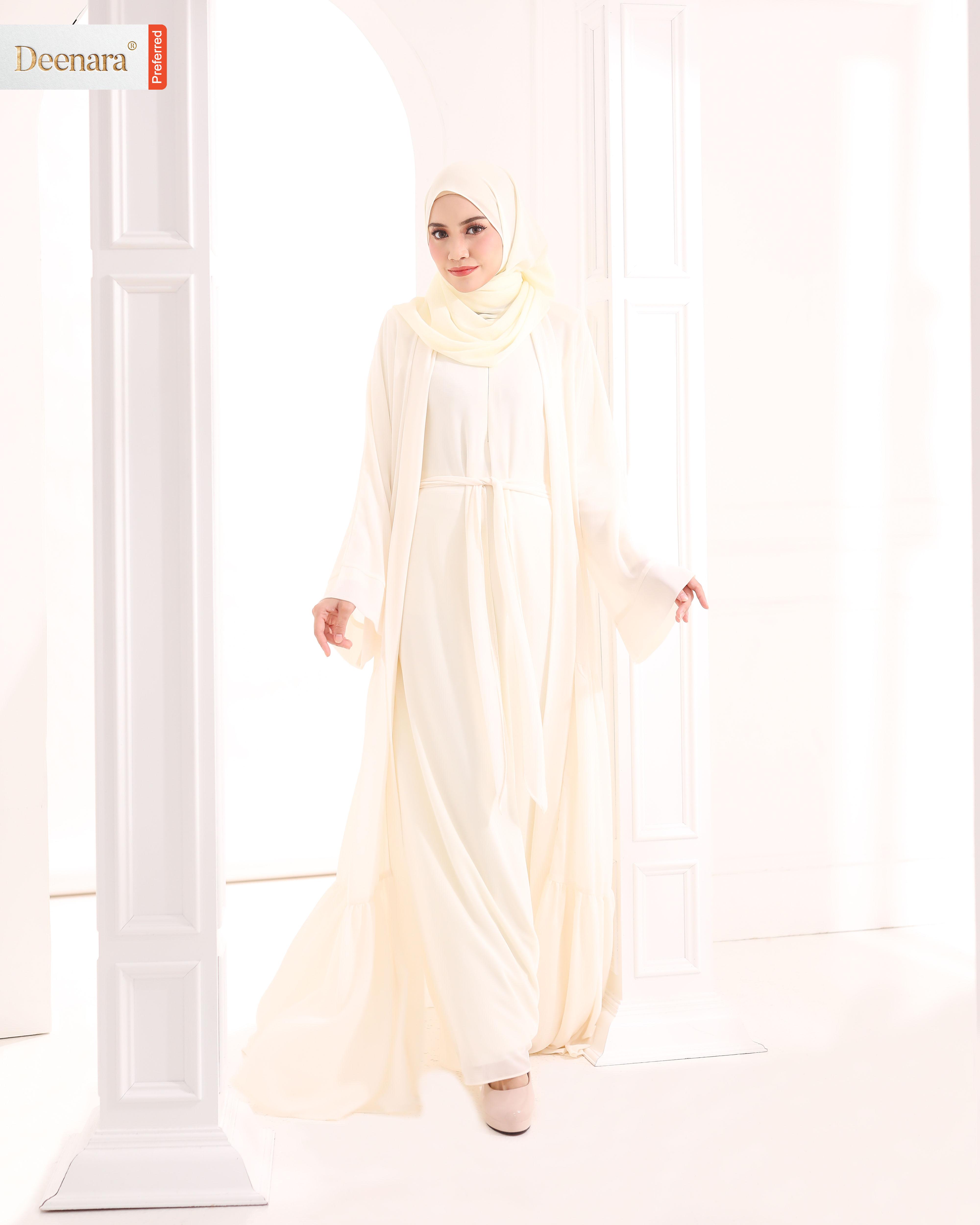 Ameera Abaya - Creamy White