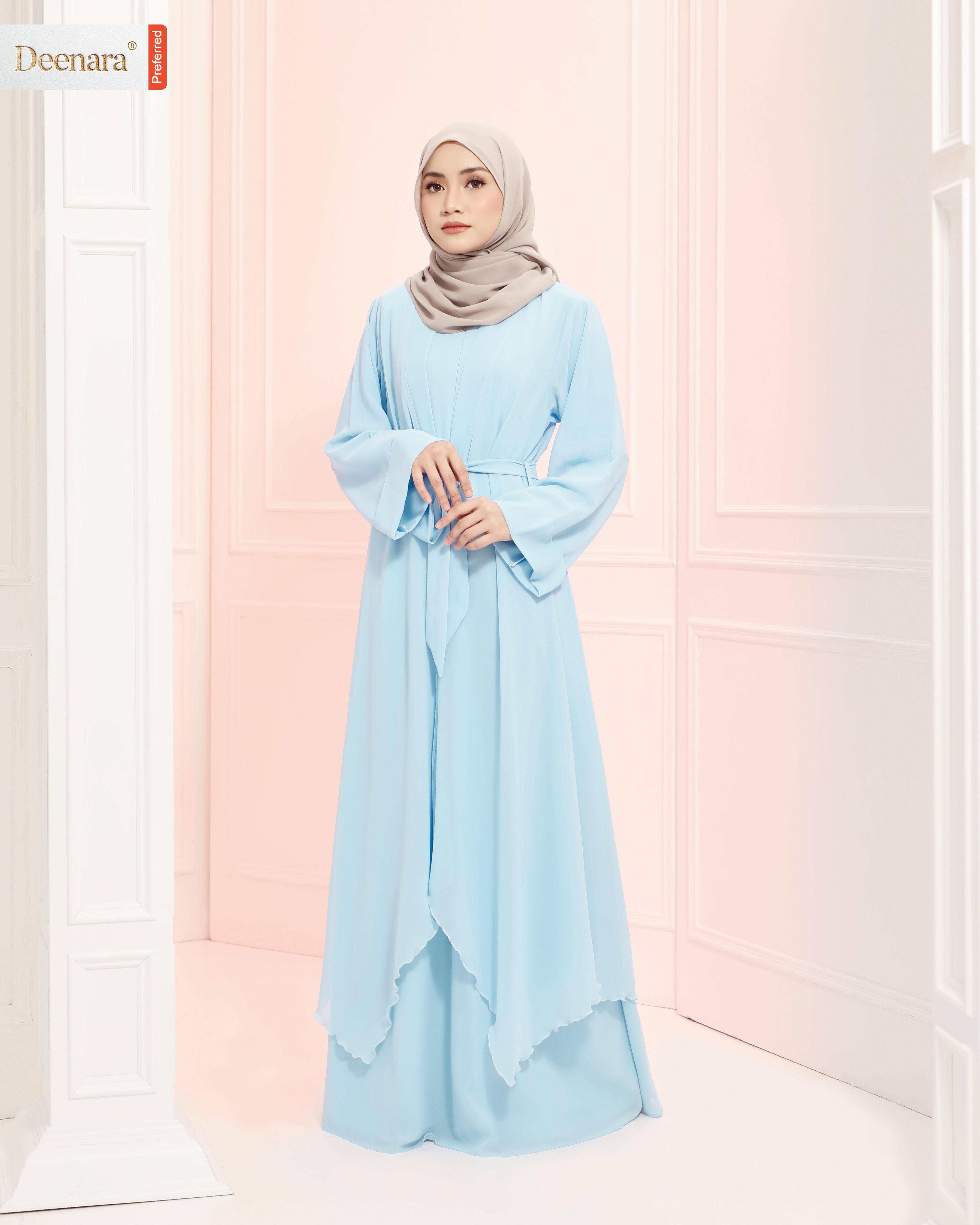 Aafiya Abaya Dress - Powder Blue