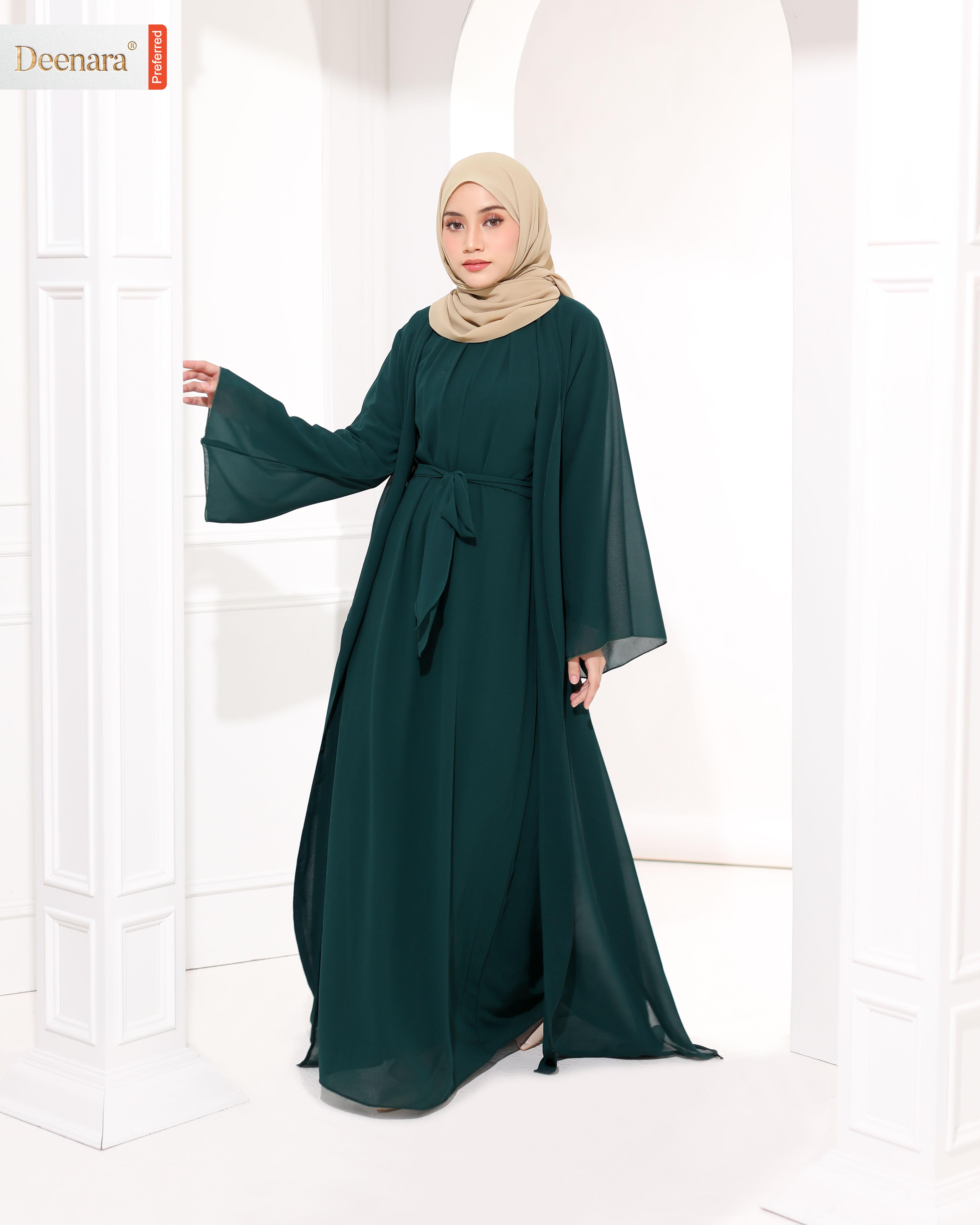 Umayra Abaya - Emerald Green
