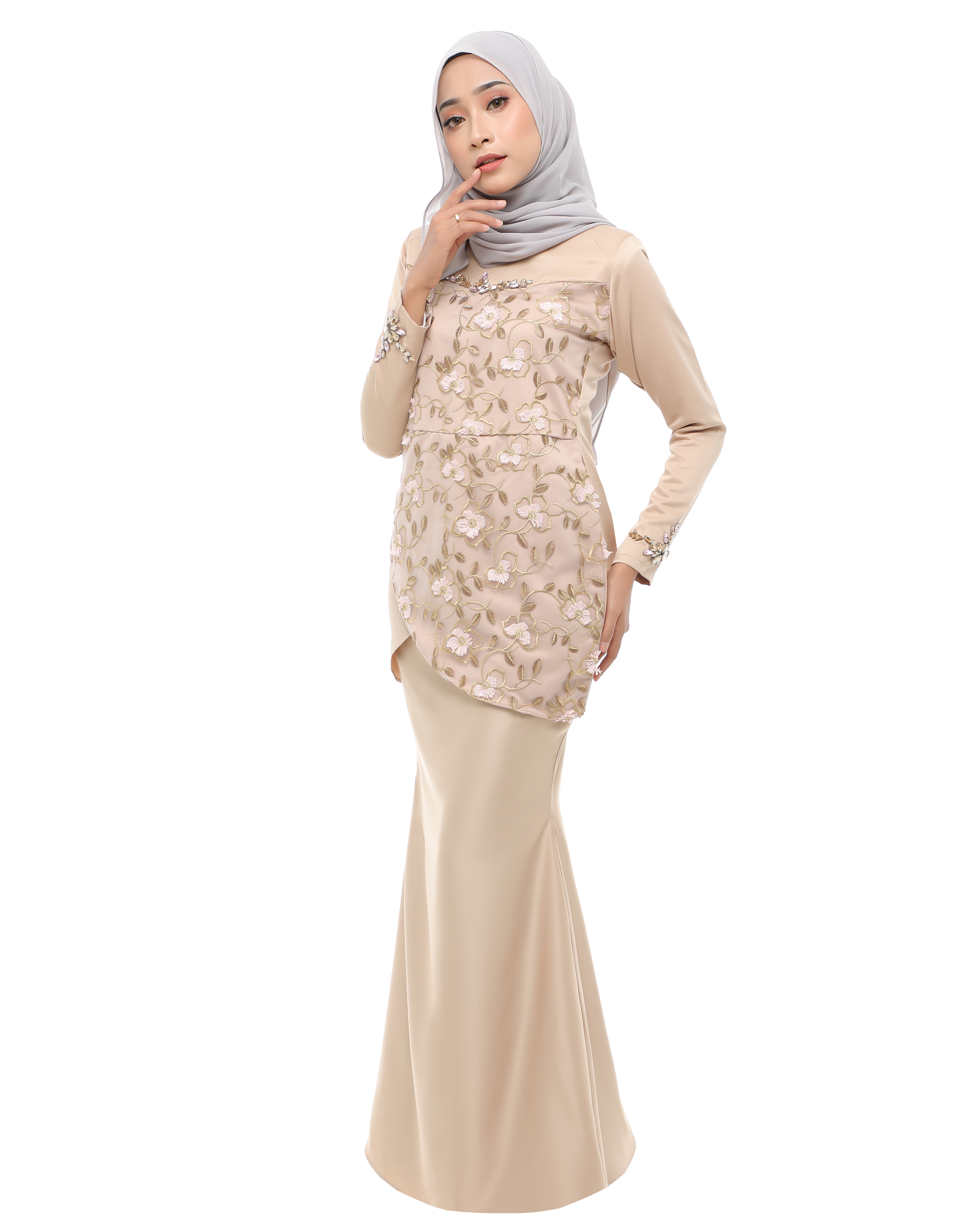 Rosalyn - Gold (Pink Flower Lace)