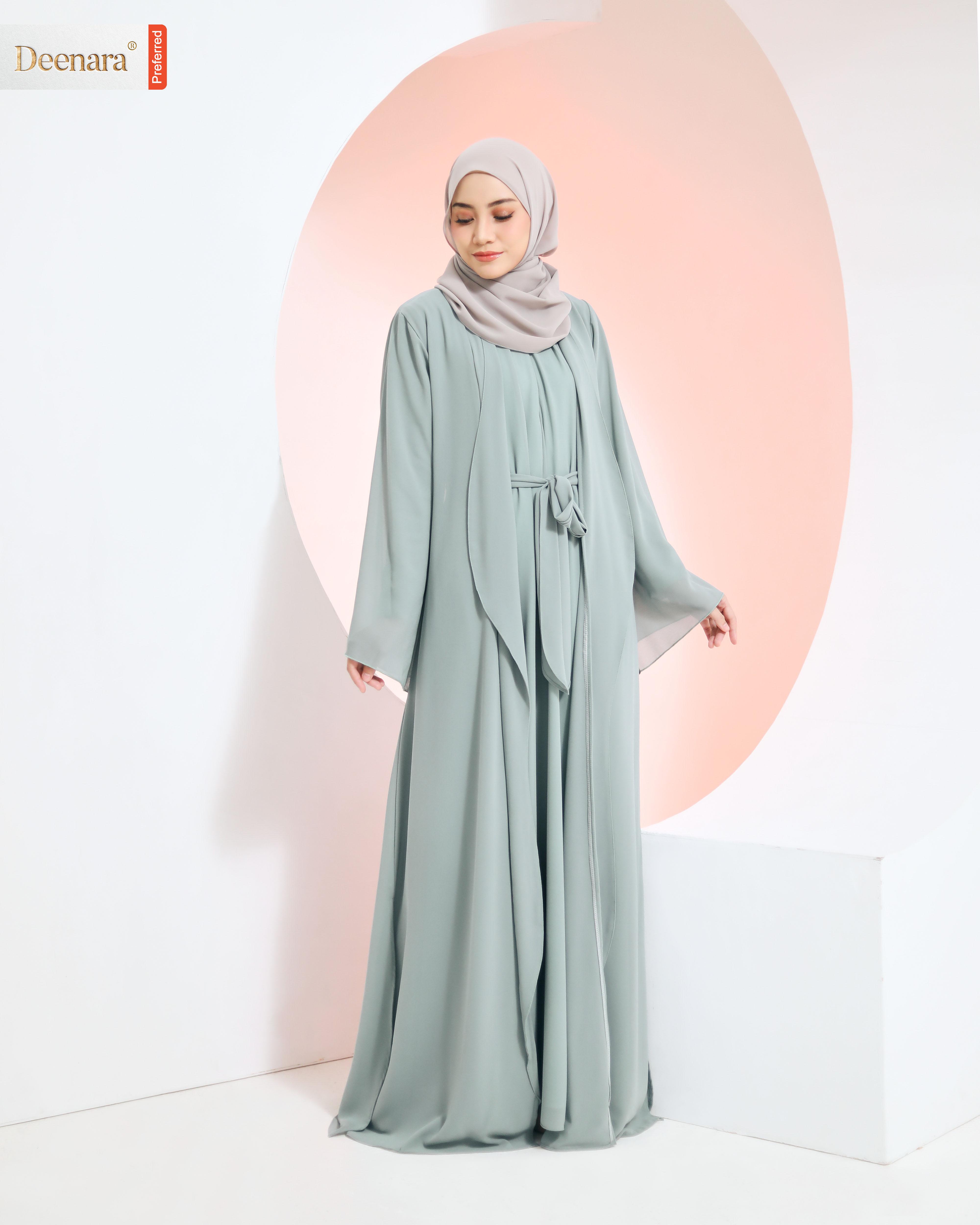 Umayra Abaya - Mint Green