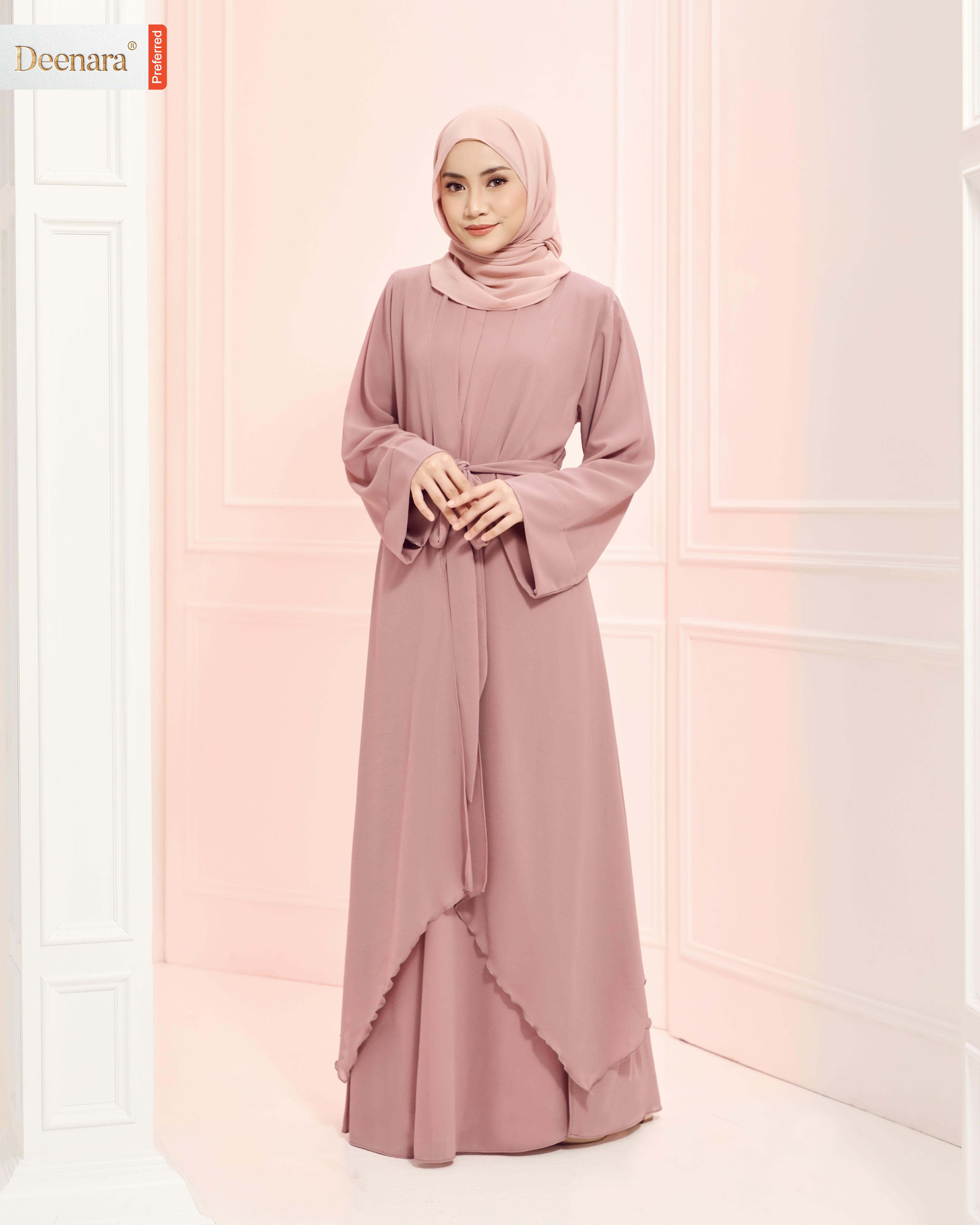 Aafiya Abaya Dress - Mist Thistle