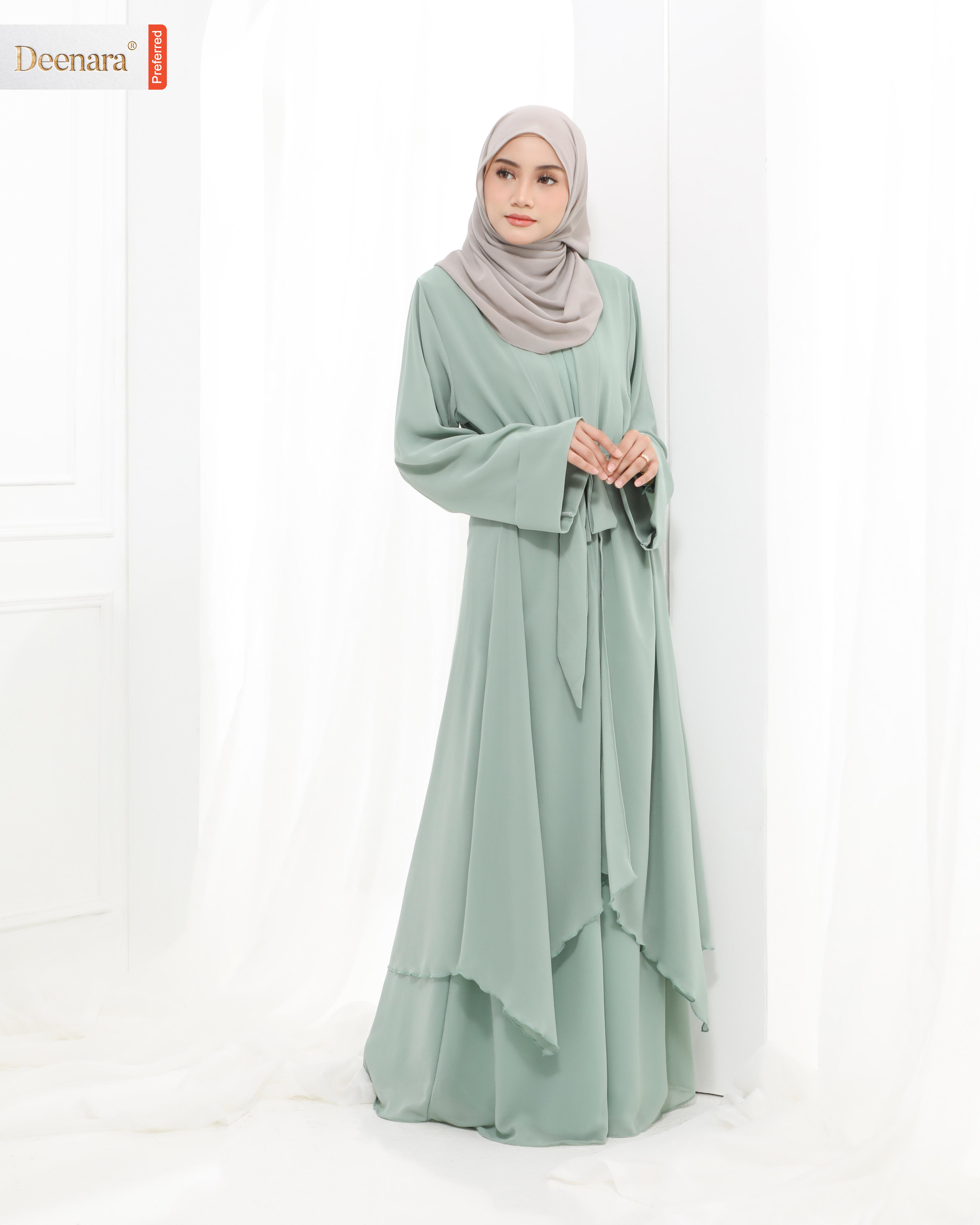Aafiya Abaya -  Mint Green