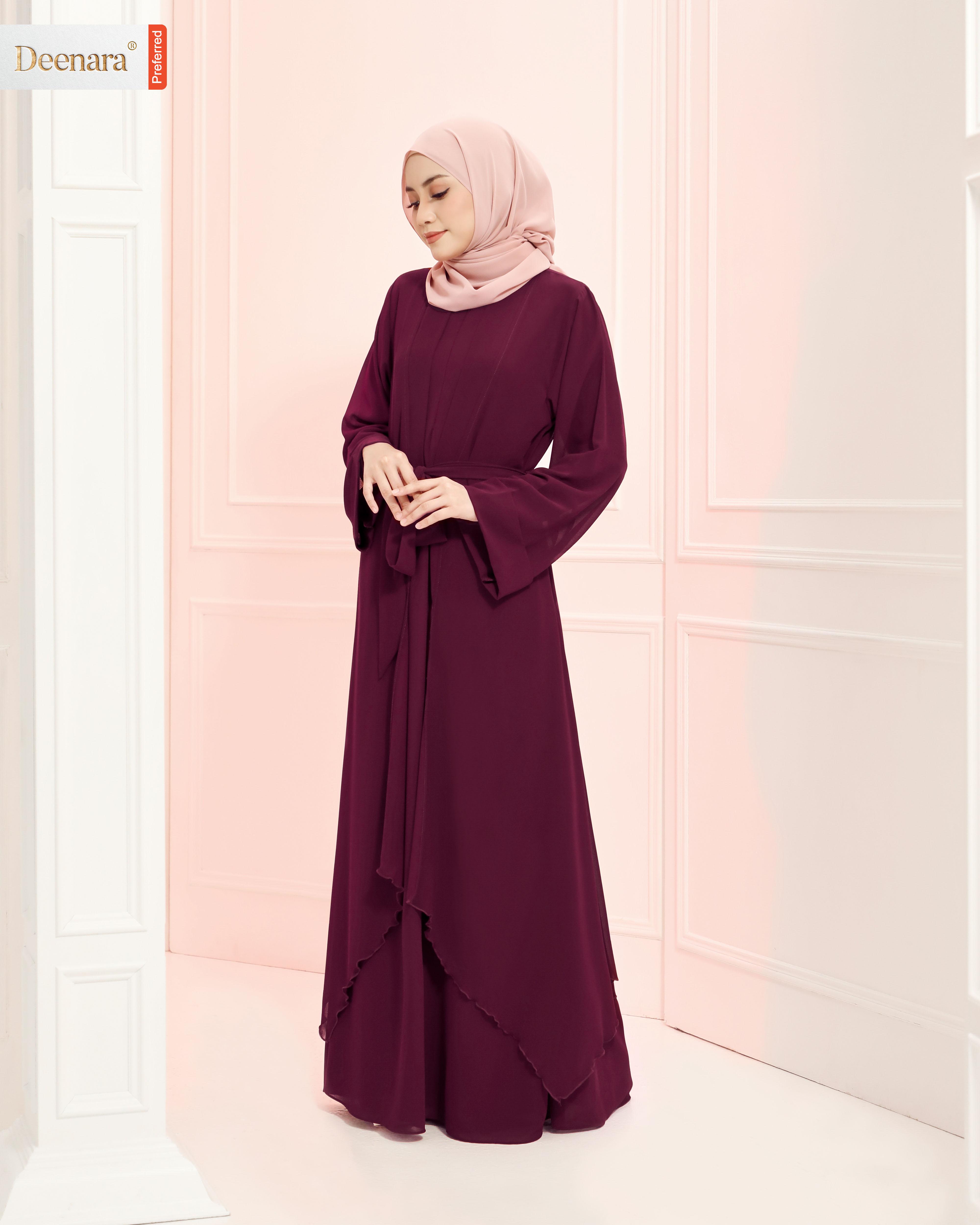 Aafiya Abaya - Mulberry