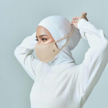 AZ Mask Single Tie-On Strap Milk Tea