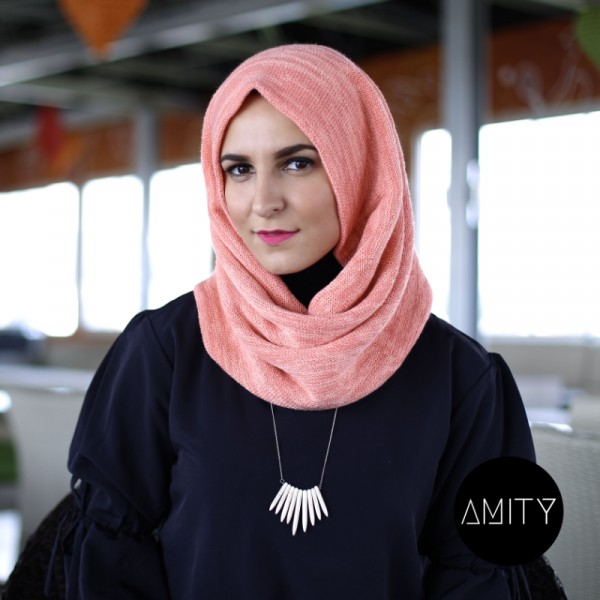 Amity Scarf Twist Peach - AMITY