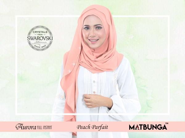 Aurora Swarovski Crystal in Peach Parfait - MatBunga Exclusive