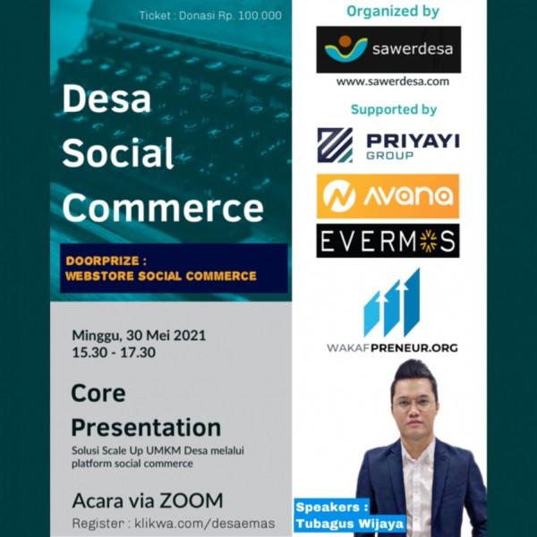 ZOOMINAR - Desa Social Commerce - TOKOAMAL.ASIA