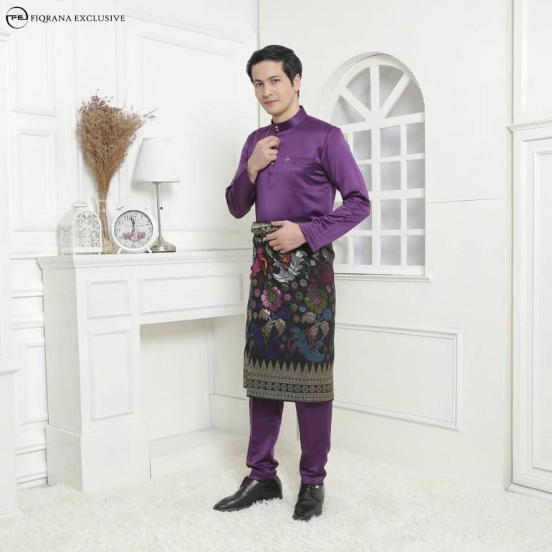 Baju Melayu Slimfit Violet Purple