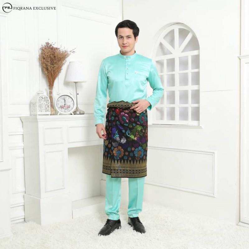Baju Melayu Slimfit Mint Green