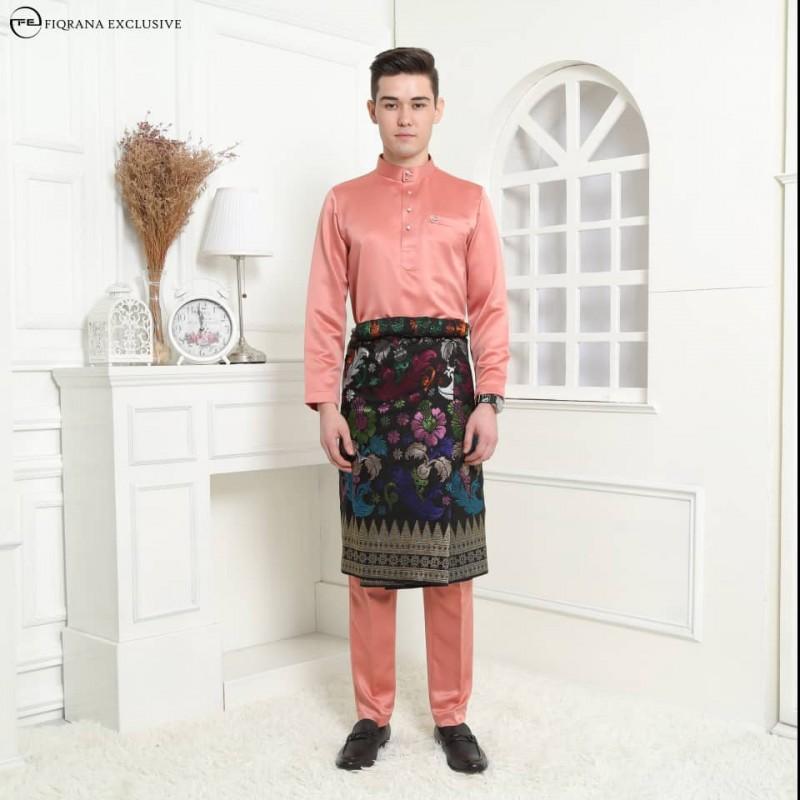 Baju Melayu Slimfit Salmon