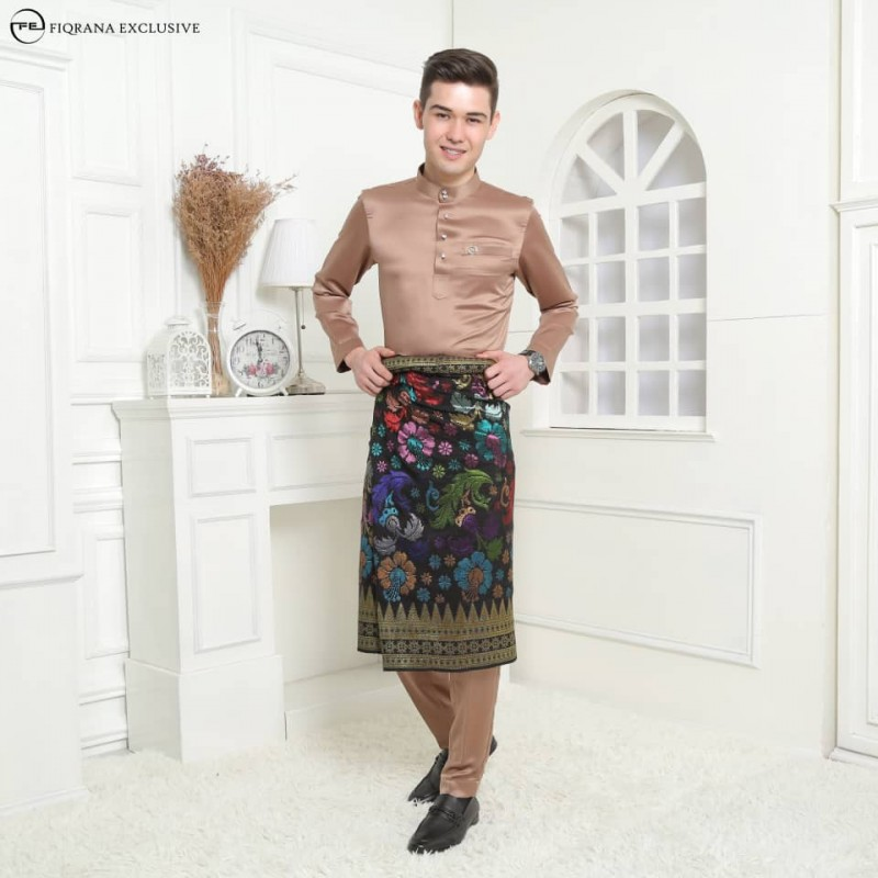 Baju Melayu Slimfit Choc Brown