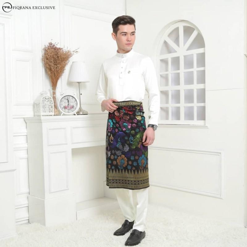 Baju Melayu Slimfit Cream - Fiqrana Exclusive