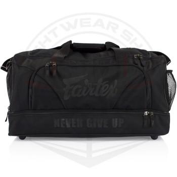 FAIRTEX BLACK/BLACK GYM BAG (BAG2) - BLACK/BLACK