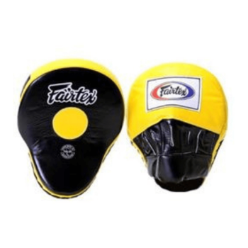 FAIRTEX FMV9 FOCUS MITTS - YELLOW/BLACK