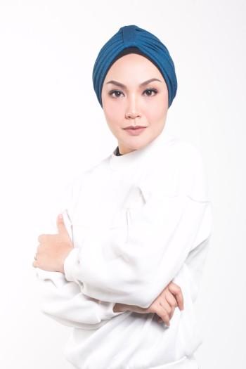 MEKNIS THE LABEL - Denim Turban - Blue